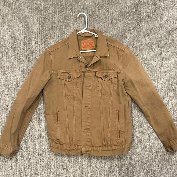 Levi's Canvas Trucker Jacket - tan - large